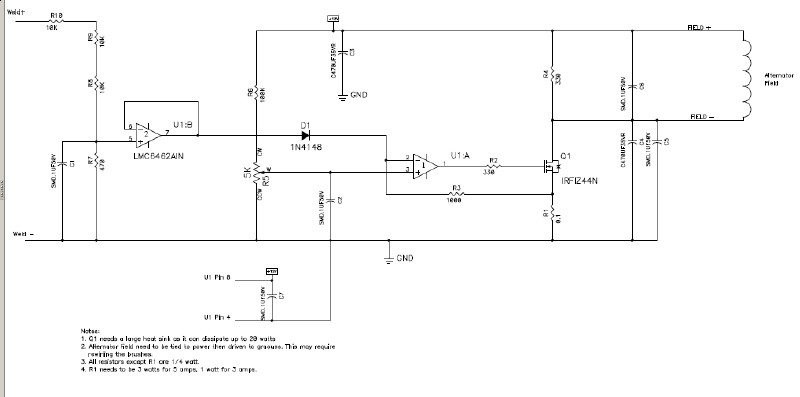 linear simple controller for alternator based welders